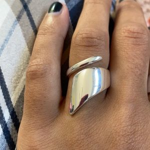 Band Statement Wrap 925 Sterling Silver Ring
